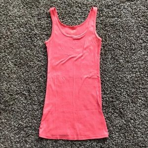 Bright pink tank top